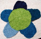 Reverse Bloom Washcloth